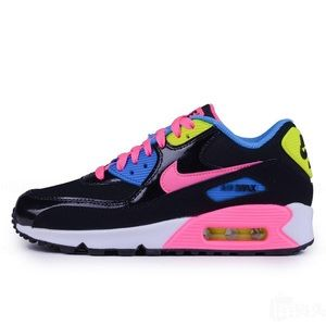 NIKE AIR MAX 90 LTR BLACK WOMENS SHOES SIZE 7.5